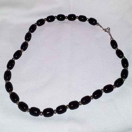 Black Pillow Necklace