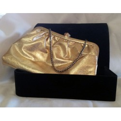 Golden Lame Evening Clutch Purse
