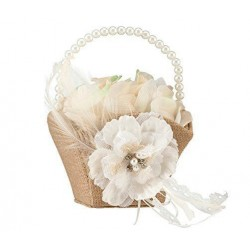 Rustic Rose Flower Girl Basket