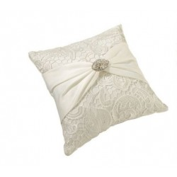 Lace and Sash Ring Pillow